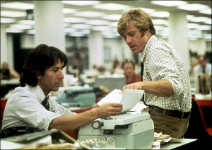 "I wasn't quite as good-looking as Robert Redford in ""All the President's Men,"" but I was just as tenacious."
