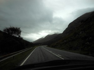 A view from the car while driving through the Isle of Skye in Scotland. Photo by Alexas Orcutt.