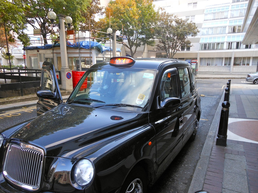The black London cab that whisked me to 221B Baker Street.