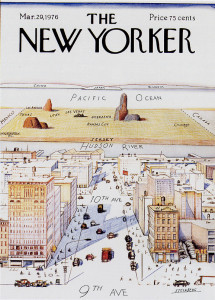 Perhaps the most famous New Yorker cover of all time.