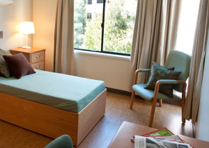 A typical room in the psychiatric hospital where I stayed—albeit a little bit more nicely furnished.