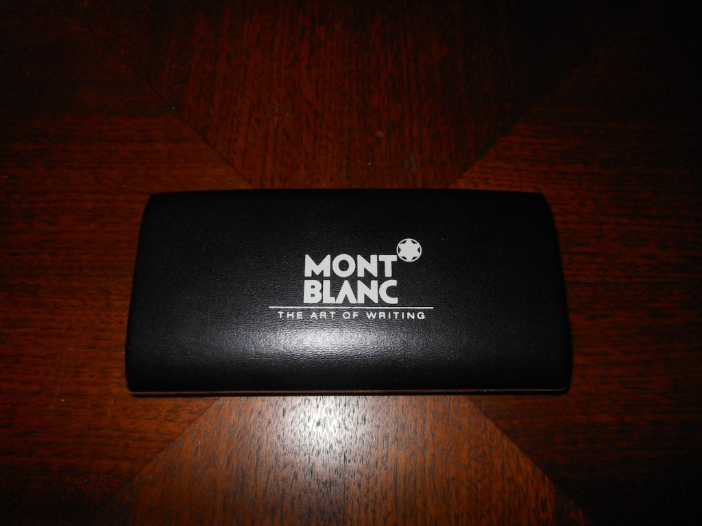 Montblanc in his case.