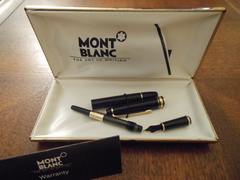 Montblanc in pieces, preparing to go to the pen hospital.